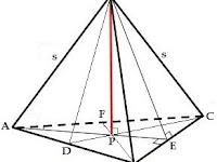 Rangkuman Materi Cara Mudah Menghitung Luas Permukaan Bidang Empat Beraturan Lengkap