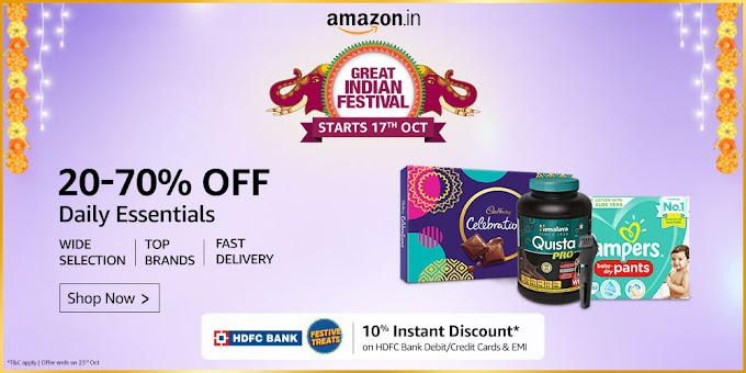 Amazon Sale: Daily Essentials Items UPTO 70% OFF