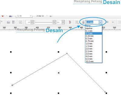 Mengatur Outline dari Garis