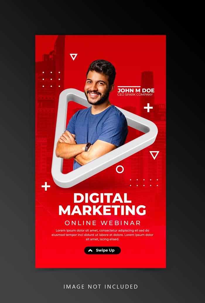 Creative Concept Live Streaming Workshop Social Media Instagram Template