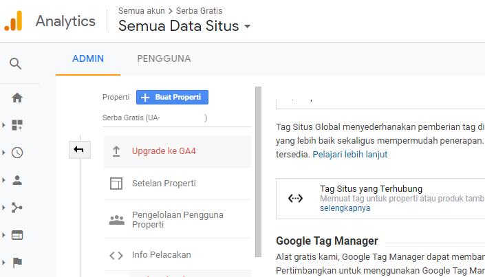 Apa itu Upgrade ke GA4 di Analytics Google  (mengaktifkan sinyal Google)