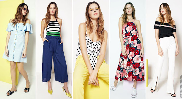 Moda primavera verano 2019 │ Ropa de mujer Núcleo Moda: vestidos, monos, pantalones, blusas y remeras. Moda primavera verano 2019 ropa de mujer.