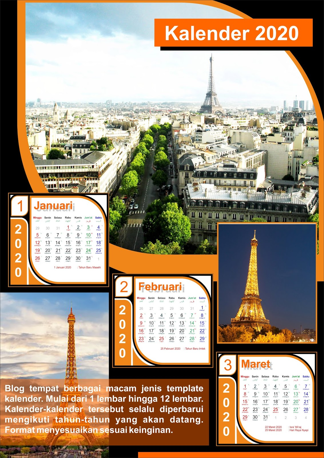 cetak kalender 2020 di Maros