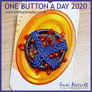 One Button a Day 2020 by Gina Barrett - Day 93: Stop the Spread