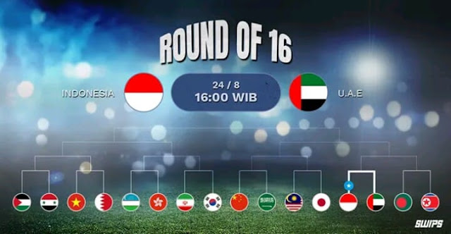 Live Streaming Indonesia vs UAE Asian Games 24.8.2018