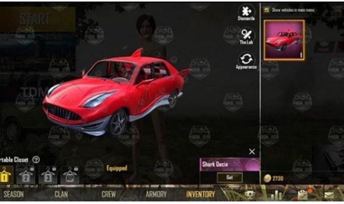 Fitur Baru Season 8 PUBG Mobile - Skin Kendaraan Baru