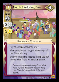 My Little Pony Herd of Adoring Fans Friends Forever CCG Card