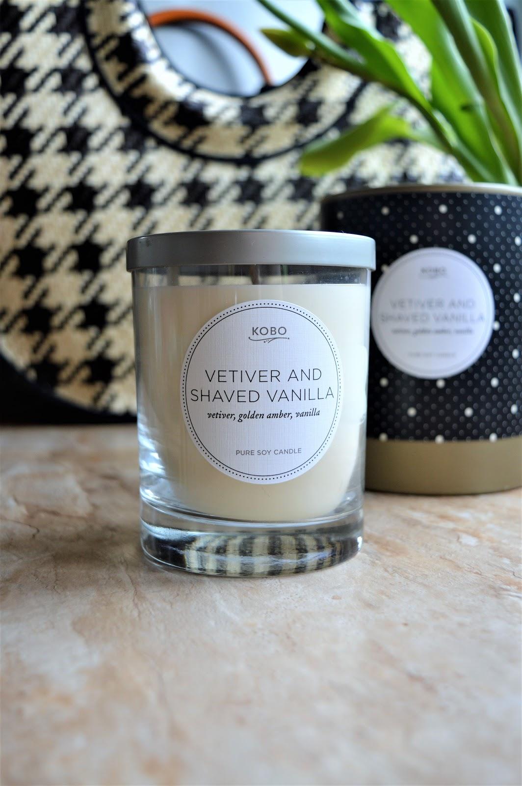 KOBO Świeca sojowa VETIVER AND SHAVED VANILLA, kobo świeca zapachowa, świeca sojowa, świece zapachowe blog, kobo candles