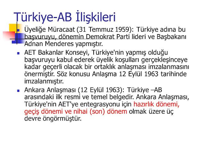 Ankara Antlaşması 1963 Nedir