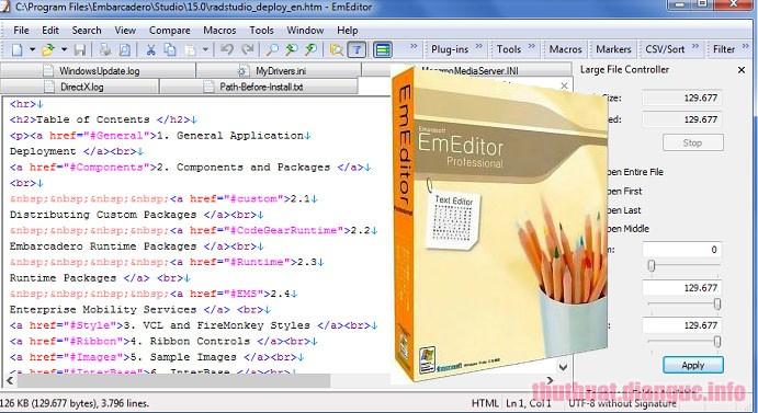 Download EmEditor Professional 18.9.8 Full Crack