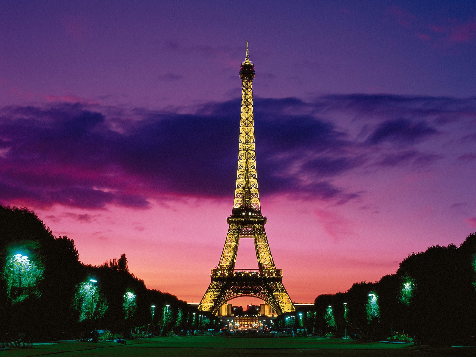 Eiffel Tower At Night Paris France Wallpaper Hd