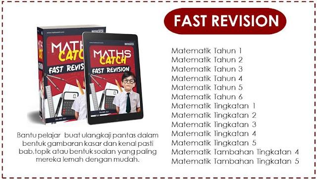 """PERCUMA – EBOOK """"FAST REVISION"""" MATEMATIK – Cikgu Rajei Ali"""