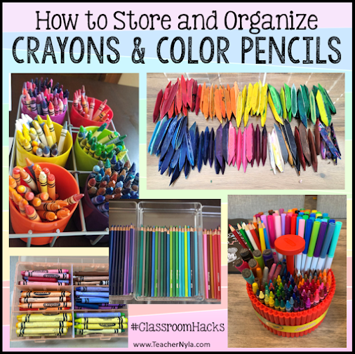 How to store and organize crayons and color pencils
