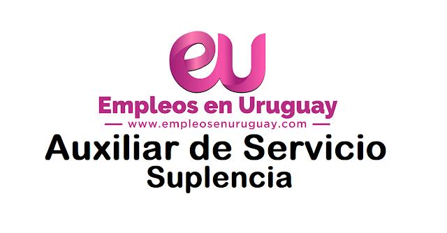 Auxiliar de Servicio - Suplencia