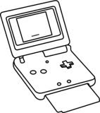 portable game console clipart