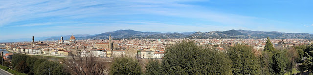 a panoramic view of Florence in Tuscany in Italy