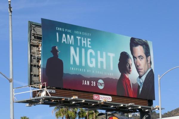 I Am the Night miniseries billboard