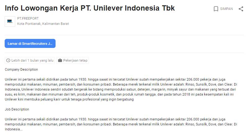 5 Lowongan Kerja Unilever Indonesia Tbk Terbaru 2020 Job Fair Lowongan Kerja 2020 Lulusan Smk Lulusan Sma Smp