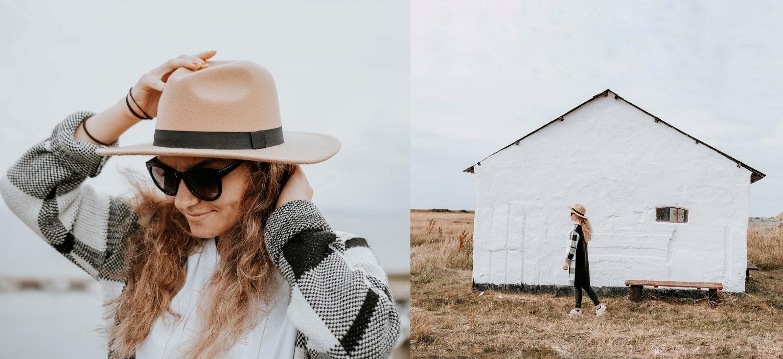 Rybacka, biała chata w skandynawskim stylu