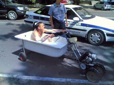 Une baignoire mobile pour des vacances de rêve !