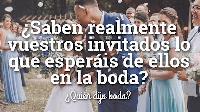 ¿Saben realmente los invitados lo que esperáis de ellos en la boda?