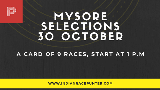 Mysore  Race Odds 30 October