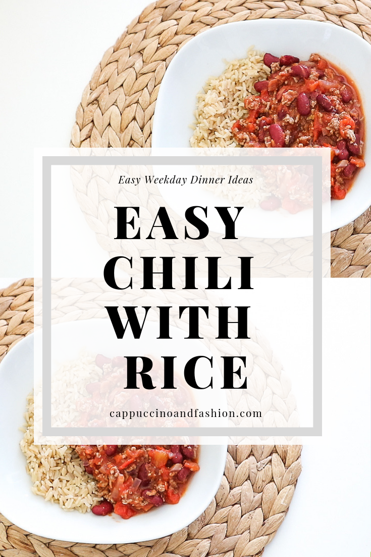 easy chili with rice dinner idea