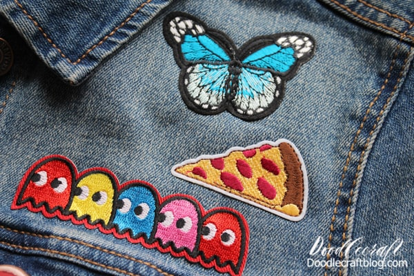The patches adhere wonderfully with the iron-on technique and even wash well!