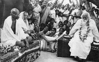 Rabindranath Tagore in Santiniketan