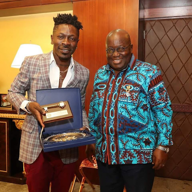 Shatta Wale visits President Akufo-Addo at Flagstaff House [Watch Video & Photos]