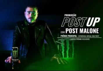 Cadastrar Post UP com Post Malone Monster Energy Promoção