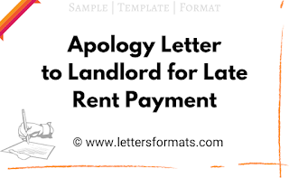 apology letter to landlord for late rent payment