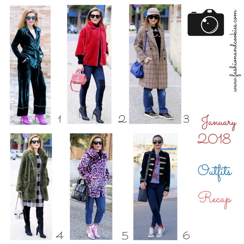 Winter fashion outfits recap from January on Fashion and Cookies fashion blog, fashion blogger style