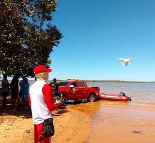 Corpo do Hélcio que naufragou no Balneário é encontrado,  Bombeiros usou  Drone na busca