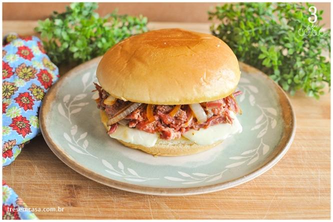 receita de sanduiche de carne seca