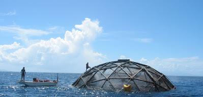 Sistem Akuakultur Laut Dalam (Sumber: atlasofthefuture)