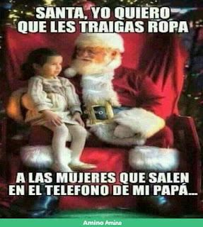 Niño pide ropa papa Noel mujeres sin ropa móvil papa