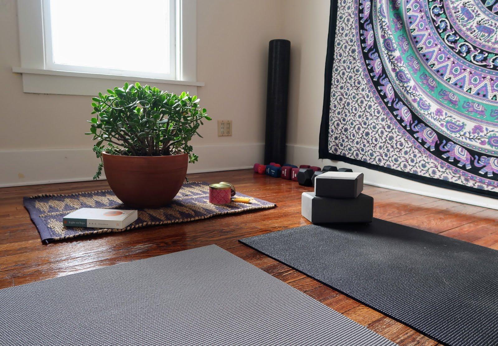 yoga healthy resolution new year goals fitness yogi mat succulent