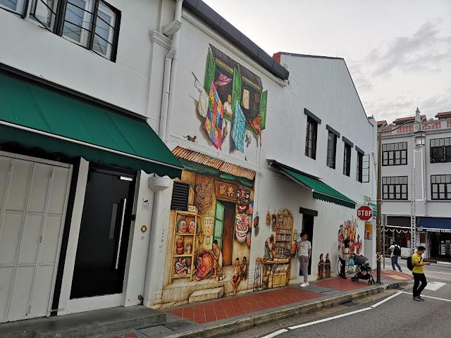 Chinatown mural - Mohamed Ali Lane