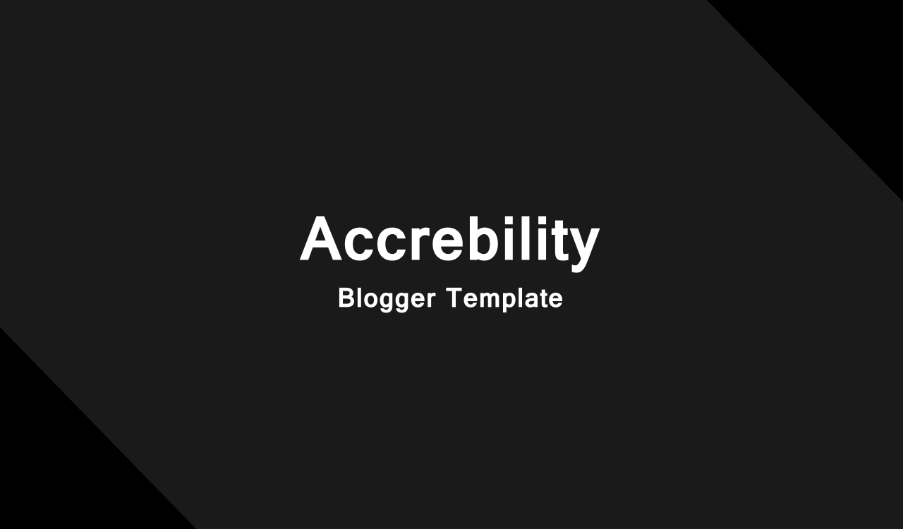 blogger template with black color