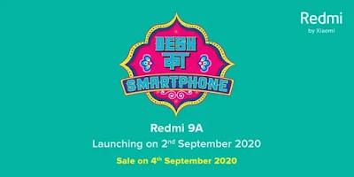 Peluncuran Redmi 9A India ditetapkan untuk 2 September;  penjualan pertama pada 4 September