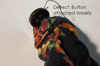 Button attach loosely