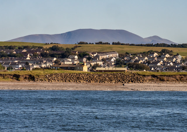 Photo of Maryport from the Solway Firth with the northern fells in the distance