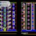 مخطط مشروع عمارة سكنية 6 طوابق (R+6) اتوكاد dwg
