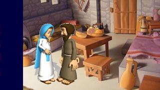 Maria fala para José que esta grávida