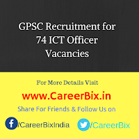GPSC Recruitment for 74 ICT Officer Vacancies