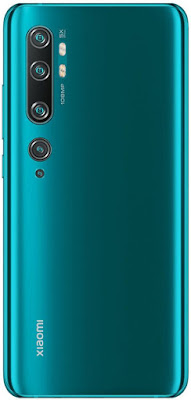Xiaomi MI Note 10 aurora green 108 MP megapixel high resolution camera gorilla glass with in display fingerprint  glass body by Apidroid