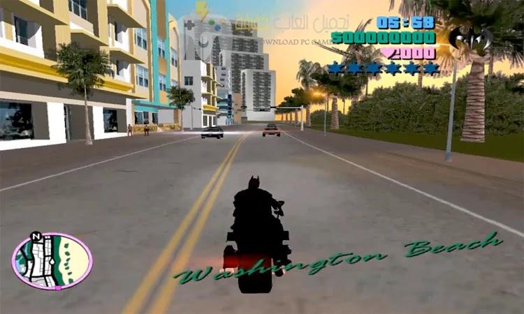 تحميل لعبة GTA Vice City Batman للكمبيوتر برابط مباشر مجانا