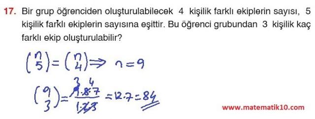 10. Sınıf Aydın Yayınları Matematik 28. Sayfa Cevapları 1. Ünite