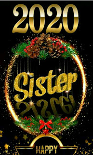 New year 2020 sister wishing